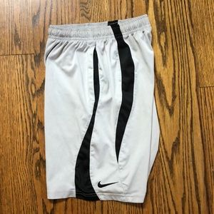 Boys Nike shorts sz S athletic gray black